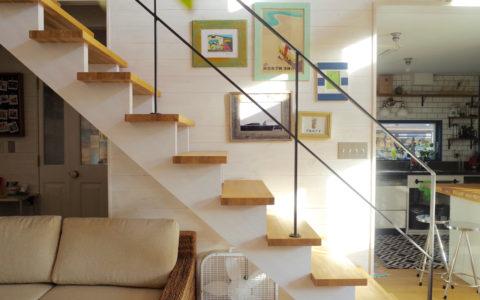 リビング階段